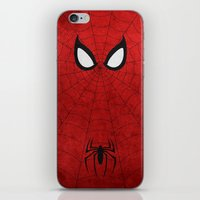 spider man iPhone & iPod Skins featuring Spider-Man by theLinC