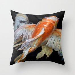 Peaceful Koi Throw Pillow