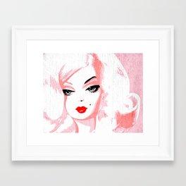 Big Hair Barbie Framed Art Print