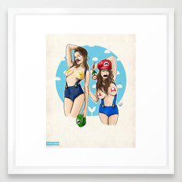 We're Here to Clean Your Pipes Framed Art Print