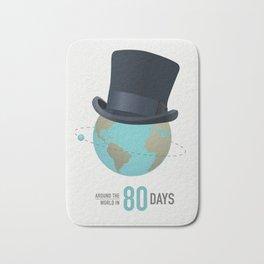Around the World in 80 Days - Alternative Movie Poster Bath Mat