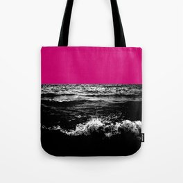 Black Wave w/Hot Pink Horizon Tote Bag