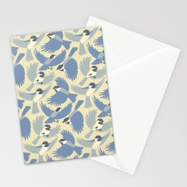 Chickadees  in Blue Stationery Cards