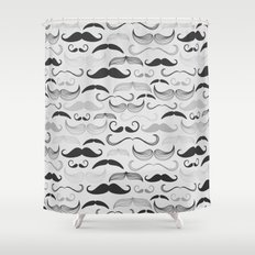 Retro Mustaches Shower Curtain