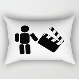 Pictogram holding a movie clapperboard Rectangular Pillow