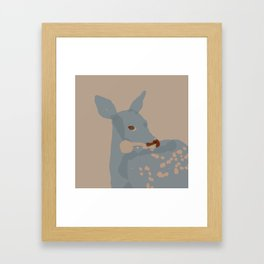 Grey Deer Framed Art Print