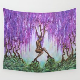 Whispers of Wisteria Wall Tapestry