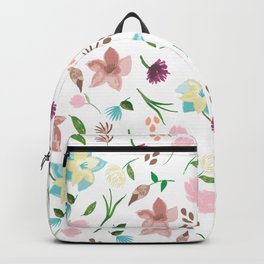 Tropical pastel themed pattern Backpack