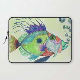 Funky Fish Art - By Sharon Cummings Laptop Sleeve