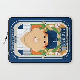 Baseball Blue Pinstripes - Deuce Crackerjack - Jacqui version Laptop Sleeve