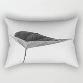 The Leaf (Black and White) Rectangular Pillow