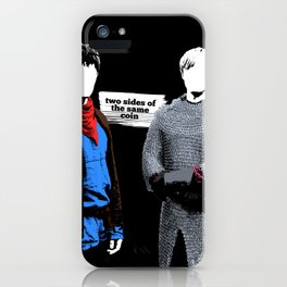 Two Sides of the Same Coin iPhone Case