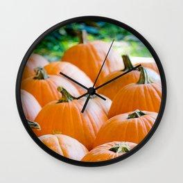 Pumpkin Patch Field Wall Clock