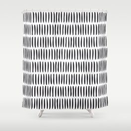 Classy Handpainted Stripes Pattern, Scandinavian Design Shower Curtain