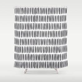 Classy Handpainted Stripes Pattern, Scandinavian Design Shower Curtain
