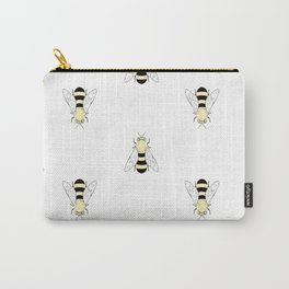 Vintage Bee Pattern Carry-All Pouch