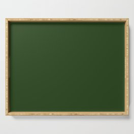 Dark Forest Green Color Serving Tray