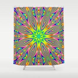 Psychedelic Rainbow Kaleidoscope Shower Curtain