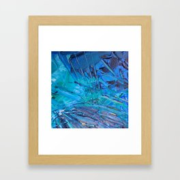 Abstract blue painting Framed Art Print