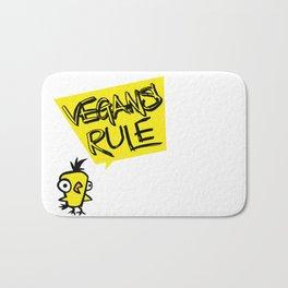 Vegans rule! Bath Mat