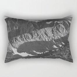 Peak above Woody Lake, Kings River Canyon Rectangular Pillow