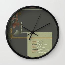 New Technology Commands Wall Clock