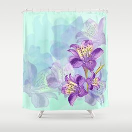 Purple Lilly Shower Curtain
