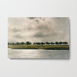 Afternoon Storm on the Coast and Salt Pond landscape by Vilhelm Hammershoi Metal Print
