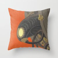 bioshock infinite Throw Pillows featuring SongBird - BioShock Infinite by LindseyCowley
