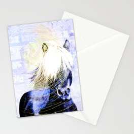 447 Abstract Periwinkle Horse Stationery Cards