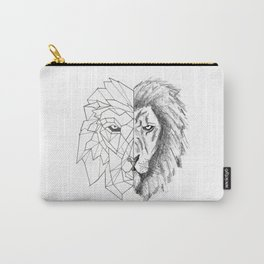 """Half Geometric Lion Head"" Carry-All Pouch"