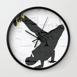 bboy freeze Wall Clock