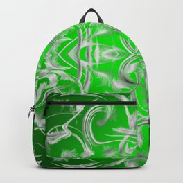 silver and green Digital pattern with circles and fractals artfully colored design for house Backpack
