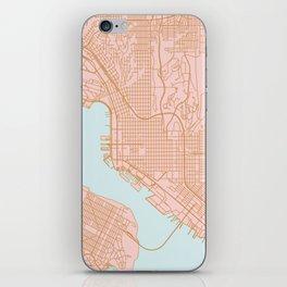 San Diego map iPhone Skin
