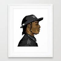 asap rocky Framed Art Prints featuring ASAP ROCKY by AJGFX