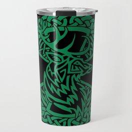 Celtic Nature Deer Travel Mug