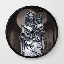 Virgin Mary And Infant Jesus Christ Wall Clock