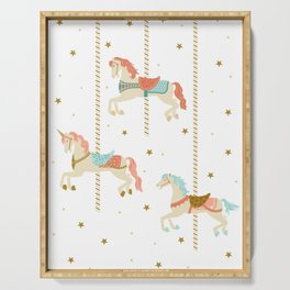 Carousel Horses Serving Tray