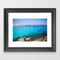 Favignana island Cala Rossa Framed Art Print
