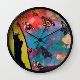 Lady Liberty Butterfly Explosion Wall Clock