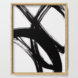 Abstract Wall art, Abstract Print, Black White Abstract Print, Black White Art, Minimalist Print, Ab Serving Tray