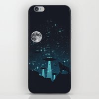 contact iPhone & iPod Skins featuring Contact by filiskun