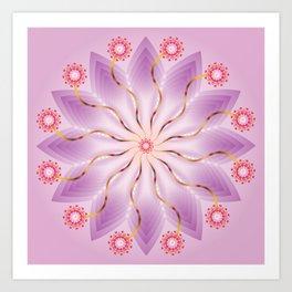 Mandala of Love - מנדלה אהבה Art Print