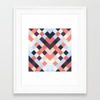 coral Framed Art Prints featuring CORAL by Sorbetedelimon