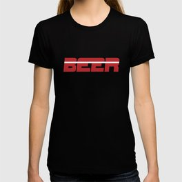 Beer is my Sport (Red Letters White Stripe) T-shirt