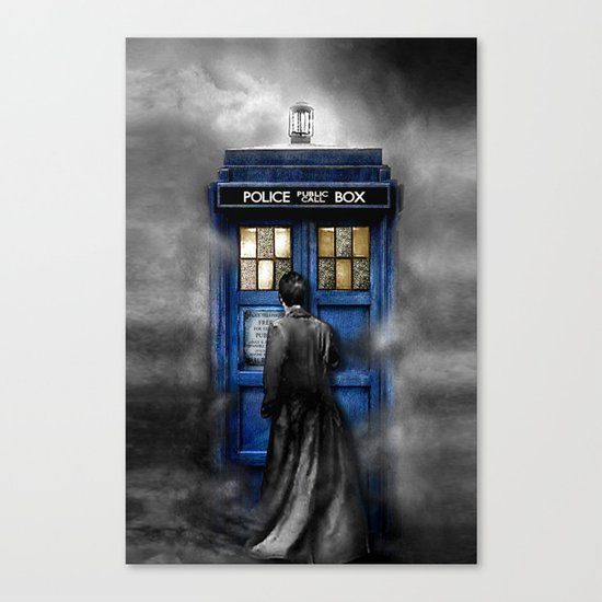 Tardis doctor who lost in the Mist apple iPhone 4 4s 5 5s 5c, ipod, ipad, pillow case and tshirt Canvas Print