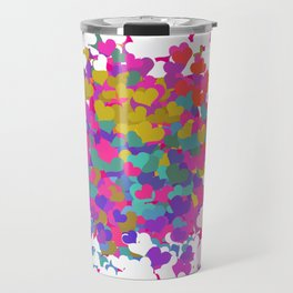 Heart leaf colorful Travel Mug