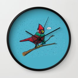 Annoyed IL Birds: The Cardinal Wall Clock