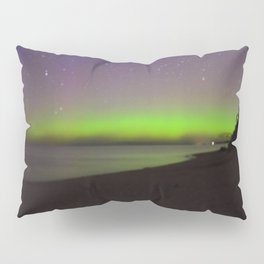 Northern Lights by Lake Michigan Beach Pillow Sham