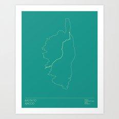 Le Tour De France Stage 2 Minimal Poster Art Print